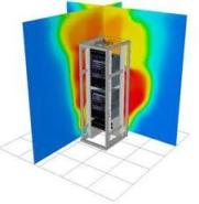 networking closet thermal image